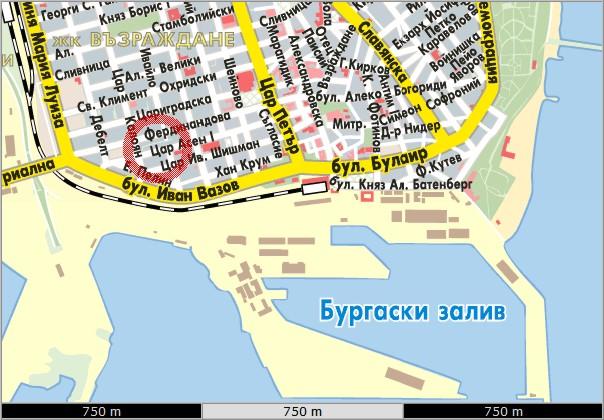 Karta Ofis Burgas Trgovski Sistemi Blgariya